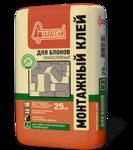 Клей монтажный для блоков Старатели тонкослойный зимний 25 кг