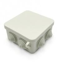 Фото - Коробка распаячная (распайка) РК 100х100х50 белая Розничная