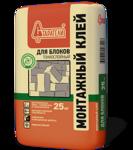 Клей монтажный для блоков Старатели тонкослойный 25 кг