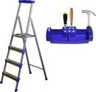 Стремянка 6 ступеней широких, лоток для инструментов, СМ6