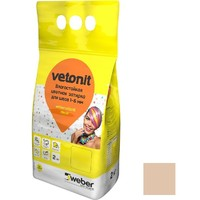 Фото - Затирка для швов влагостойкая Vetonit Decor бежевый 2 кг Оптом