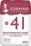 Монтажный клей Форман 41 для ПГП и ГКЛ (25 кг)