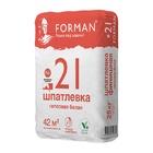FORMAN 21 Шпаклёвка гипсовая финишная белая 20 кг.