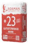 FORMAN 23 Шпаклёвка гипсовая супершов высокопрочная 25 кг.