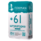 Форман 61 Штукатурка цементная для внутренних и наружных работ 25 кг.
