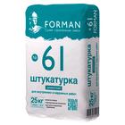 FORMAN 61 Штукатурка цементная для внутренних и наружных работ 25 кг.