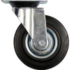 Колесо для тележки стационарное черная резина 200мм