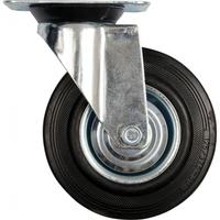 Фото - Колесо для тележки стационарное черная резина 200мм