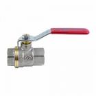 Кран шаровой латунь никель 1001-04 Ду 32 Ру20 м/м полнопроходный рычаг AQUASFERA