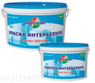 Краска латексная МК-04 Мастеркофф белая 4 кг