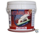 Затирка для плитки Litokol Litochrom Starlike C.490 (Серо-бежевый), 2,5 кг.