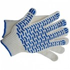 Перчатки ХБ 10 класс с ПВХ волна 4 нити