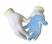 Фото - Перчатки ХБ 10 класс с ПВХ точкой 4 нити Розничная