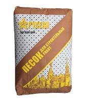 Фото - Песок строительный сухой очищенный фракционный в мешках 40 кг Розничная