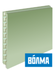 Пазогребневый блок плита (ПГП) Волма 80 мм влагостойкий пустотелый