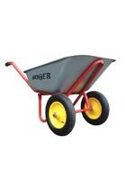 Фото - Тачка строительная HOGER (240 кг, объем 110л) двухколёсная, пневматическое колесо D  Розничная