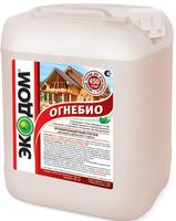 Фото - Огнебиозащита (пропитка) ОБЗ КОВЭР (красная) для древесины (дерева) деревянных конструкций 10л Розничная